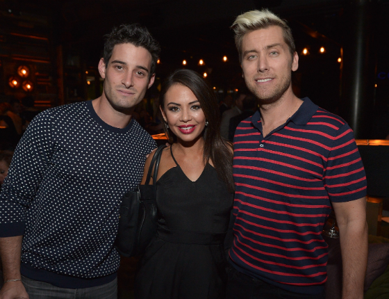 Janel Parrish and Lance Bass at TACORI Gentleman's Jewelry Launch Party