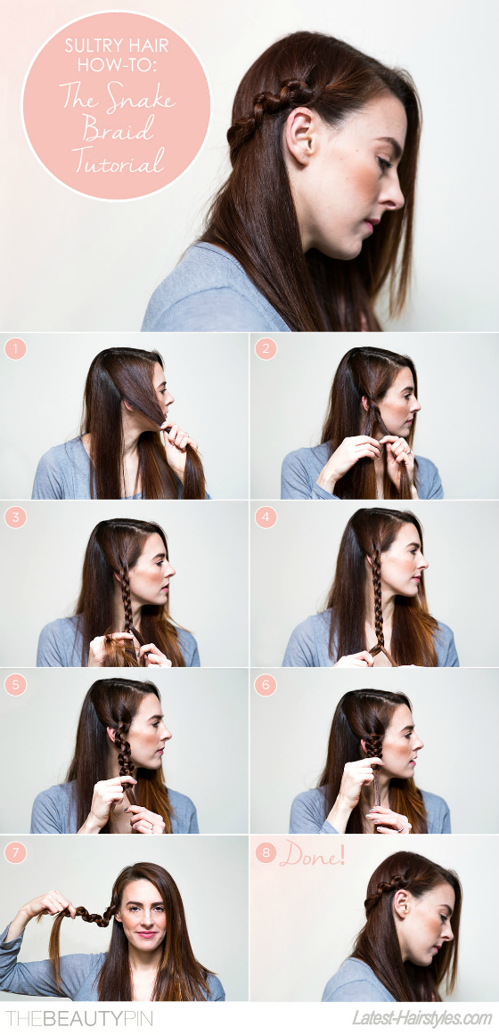 Hair How-To The Sultry Snake Braid Tutorial