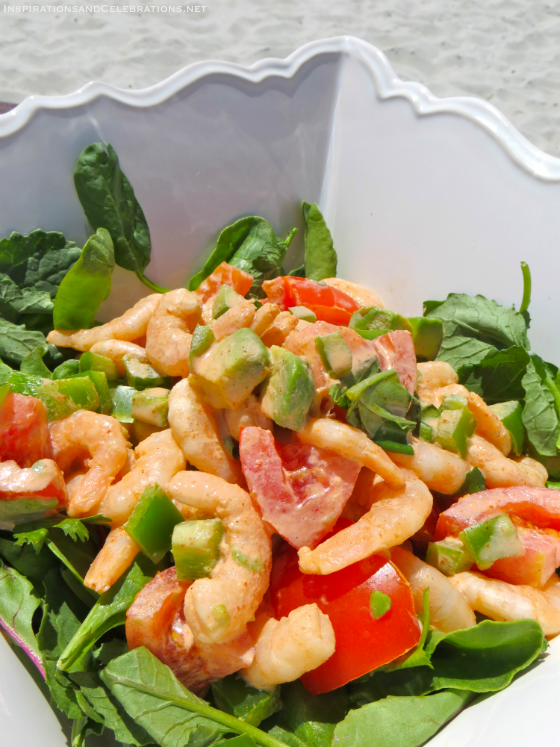 Easy Entertaining The Fun Way To Have A #VacayEveryDay - Mexican Shrimp Salad