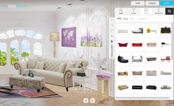 myWebRoom Interior Design and Bookmarking Site