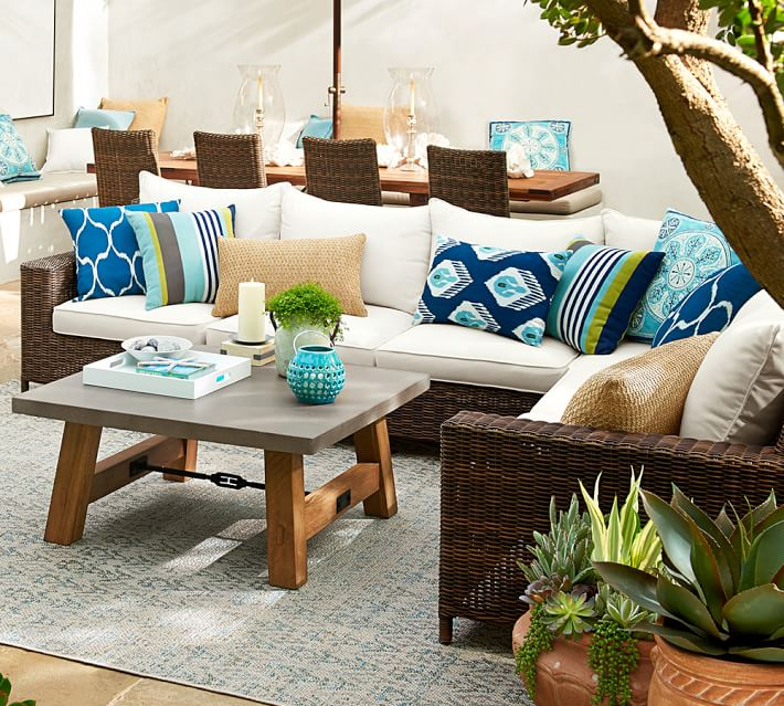 7 Outdoor Living Spaces That Inspire Summer Entertaining on Living Spaces Outdoor Sectional id=36801