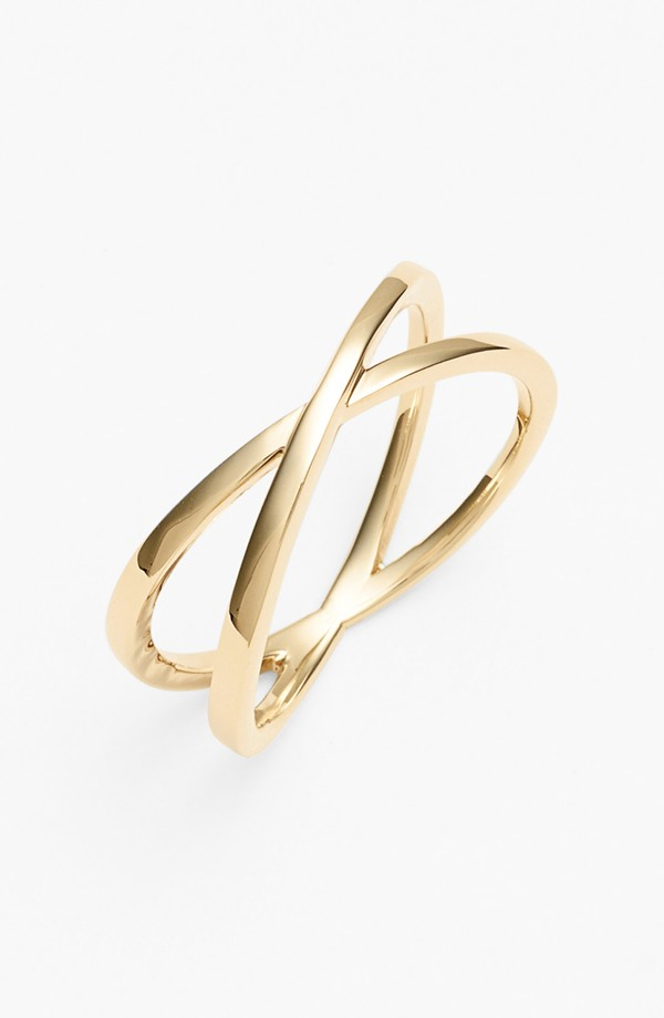 Fabulous Finds Luxury Jewelry - Bony Levy Crossover Ring