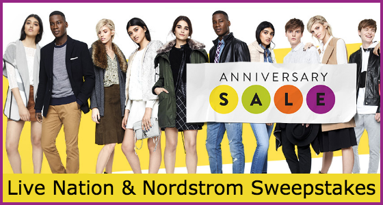 Live Nation and Nordstrom Anniversary Sale Sweepstakes