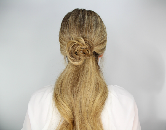 DIY Hair Tutorial Rosette Ponytail