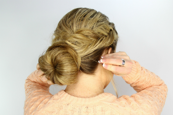 DIY Hairstyle Tutorial - Fishtail Wrapped Bun
