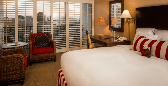 The Ultimate Monterey Bay Vacation Giveaway - Portola Hotel and Spa Harbor View Room