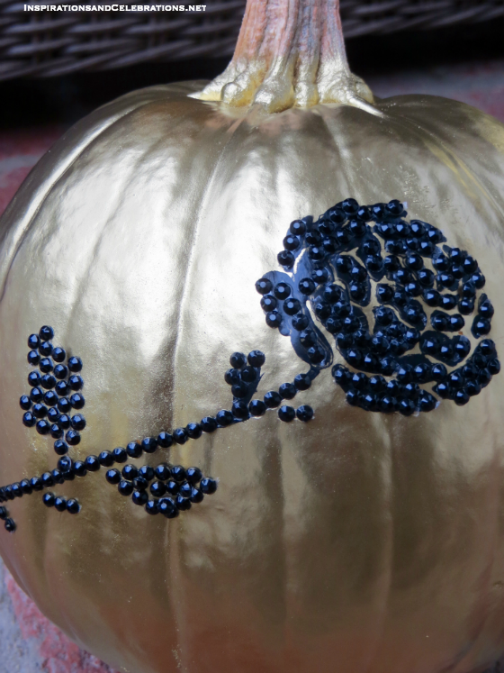 DIY Halloween Decor Tutorial - How To Create Glamorous Pumpkins - Bedazzled Pumpkins