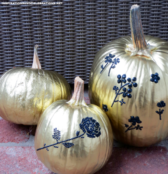 DIY Halloween Decor Tutorial: Glamorous Pumpkins - photo#9