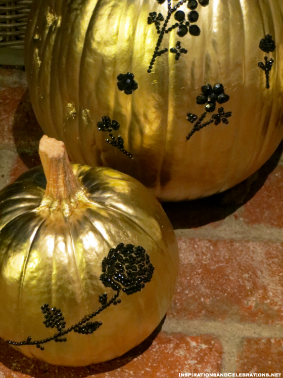 DIY Halloween Decor Tutorial - How To Create Glamorous Pumpkins - Rhinestone Bedazzled Pumpkins