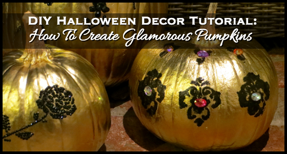 DIY Halloween Decor Tutorial: Glamorous Pumpkins - photo#10