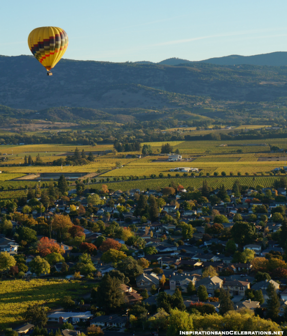 Fall Travel Guide to Napa Valley - Napa Valley Aloft Hot Air Balloon Ride