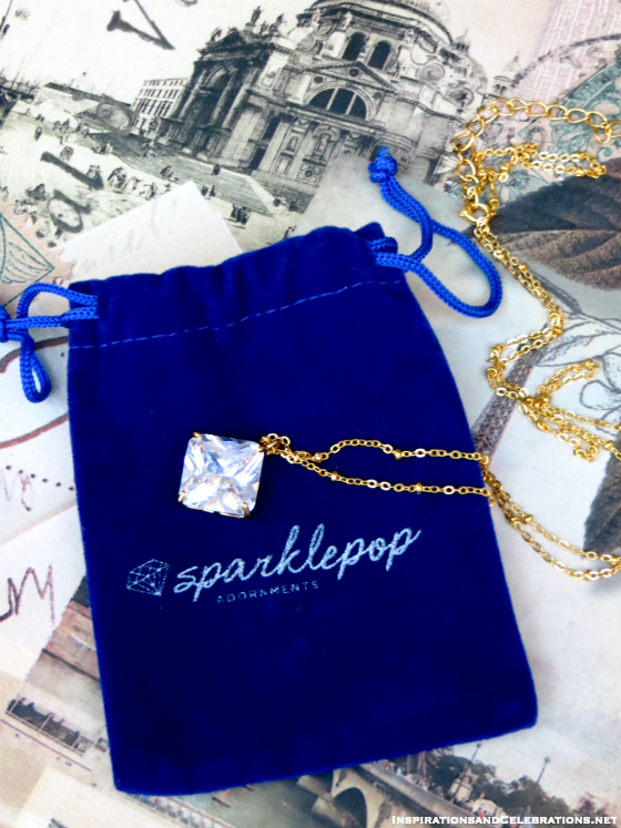 The Haute Holiday Fashion and Makeup Giveaway - Sparklepop Jewelry Sydney Necklace