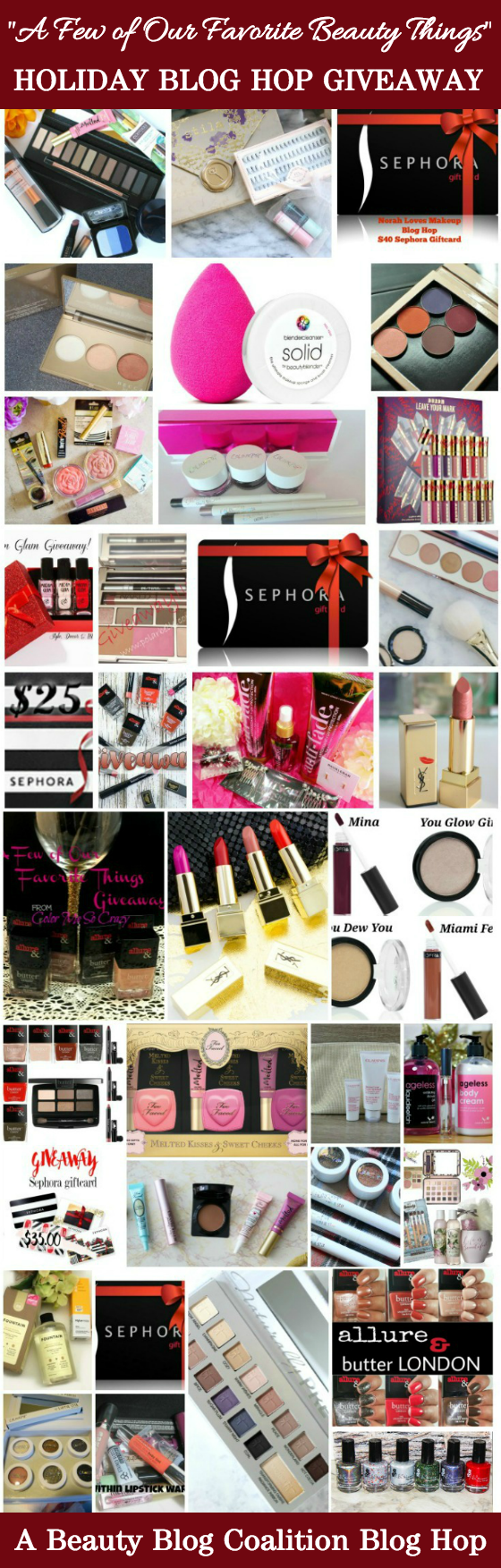 BBC Beauty Blog Hop Holiday Giveaway - 35 Prizes