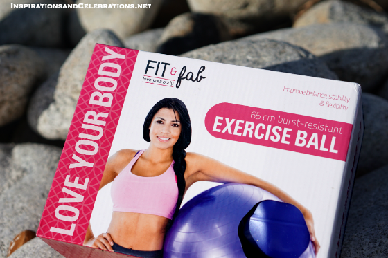 Fit and Fab New Year Giveaway - Win a Fit and Fab Exercise Ball