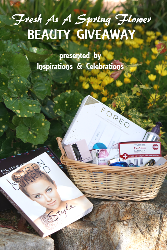 Fresh as a Spring Flower Beauty Giveaway from Inspirations and Celebrations