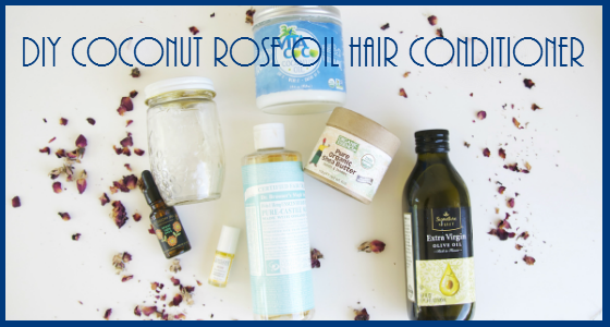 DIY Coconut Rose Oil Hair Conditioner Tutorial
