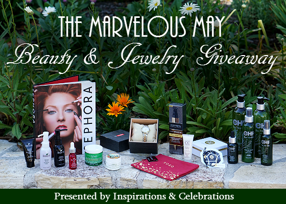 The Marvelous May Beauty and Jewelry Giveaway from Inspirations and Celebrations