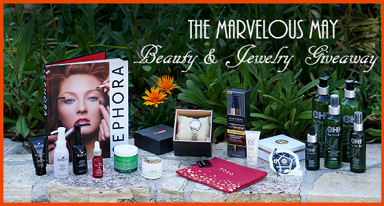 The Marvelous May Beauty and Jewelry Giveaway