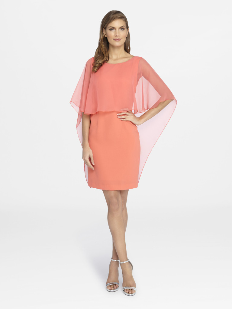 Summer Style Guide - Tahari ASL Capelet Crepe and Chiffon Dress