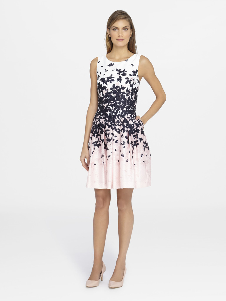 Summer Style Guide - Tahari ASL Gradient Floral Print Fit-and-Flare Dress