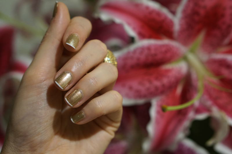 Beauty Tutorial: DIY Modern Glam Gold French Manicure