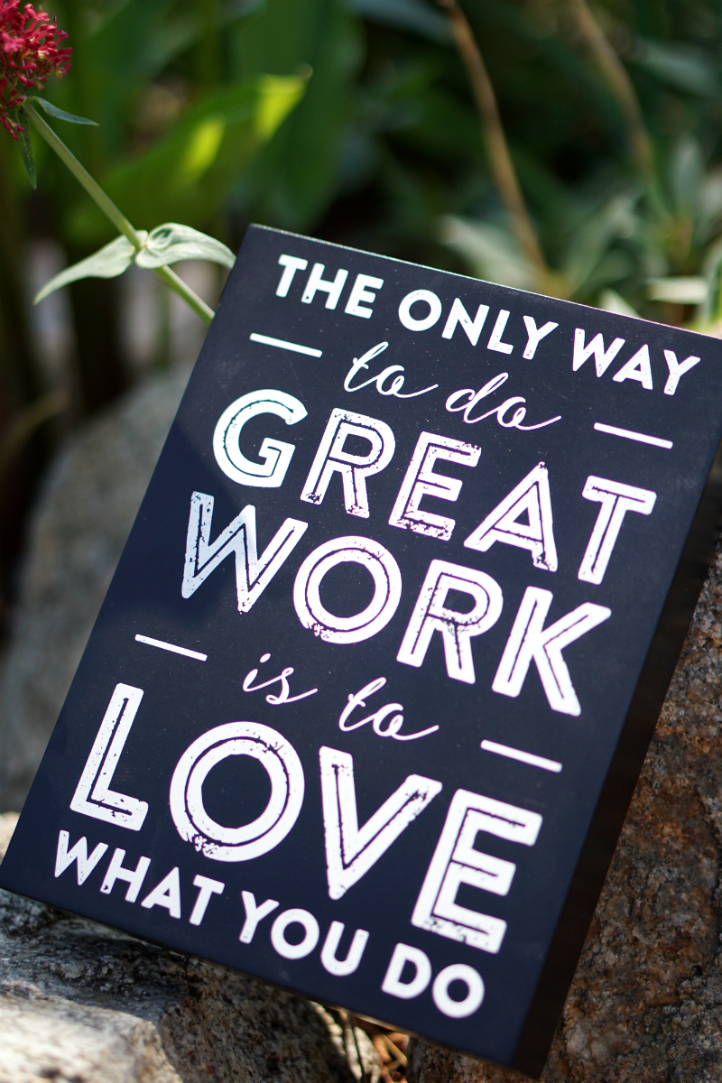 Love What You Do Giveaway - Motivational Wood Sign
