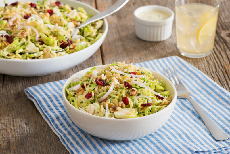 Labor Day Party Ideas - Orzo and Brussels Sprouts Slaw Recipe
