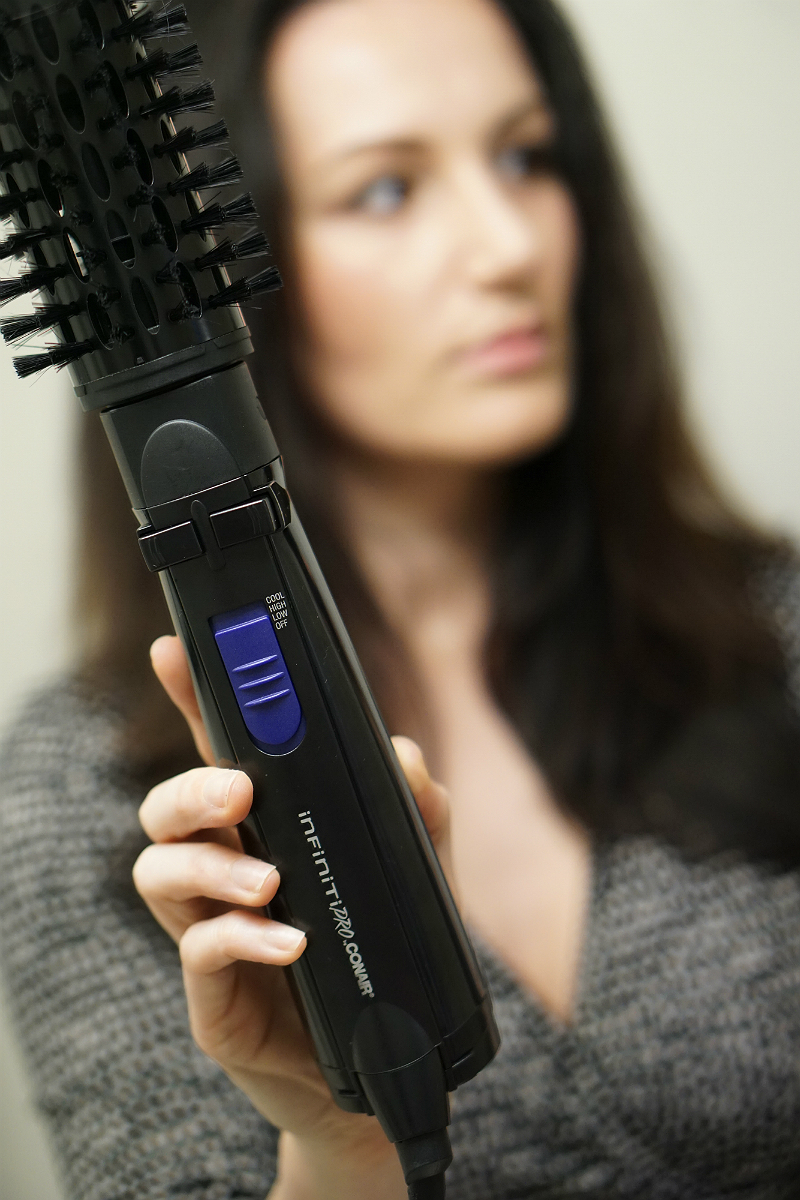 Festive Holiday Hairstyle Tutorial with Infiniti PRO by Conair Spin Air Brush