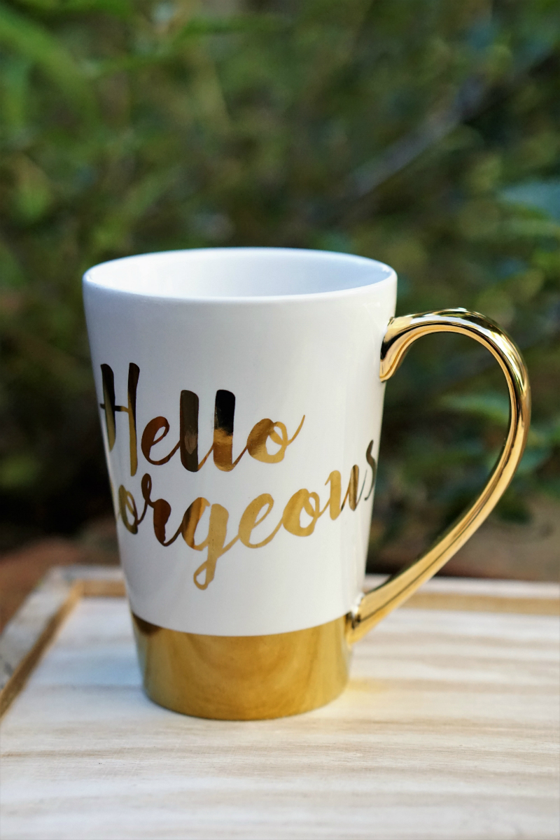 Glow For It Giveaway - Hello Gorgeous Coffee Mug