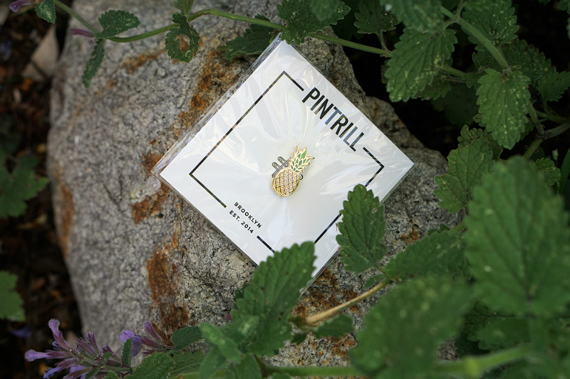 Power Your Happy Giveaway - Pintrill Pineapple Pin