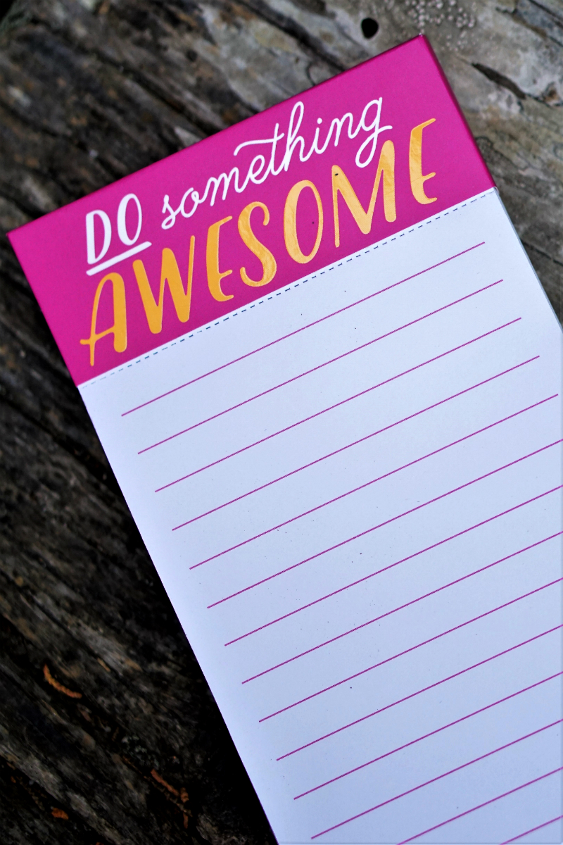 The Bold and Beautiful Giveaway - Do Something Awesome Notepad