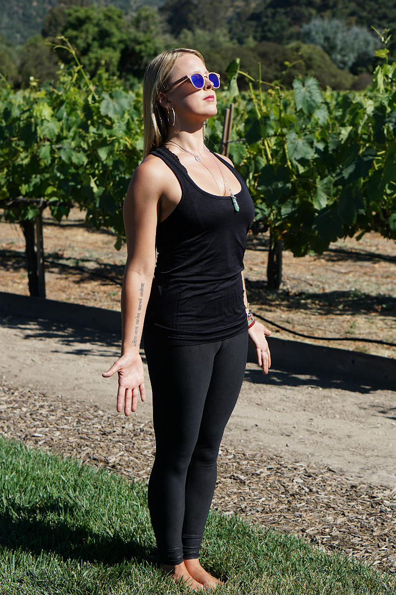 Yoga in the Vines Series - Standing Mountain Pose