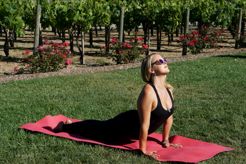 Yoga in the Vines Series - Upward-Facing Dog Pose
