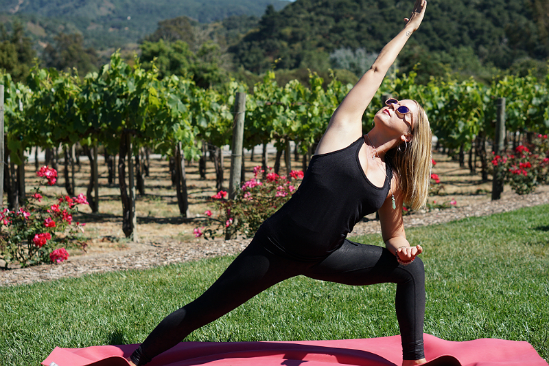 Yoga in the Vines Series - Extended Side Angle Pose