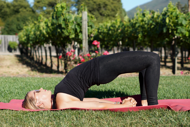 Yoga in the Vines Series - Bridge Pose