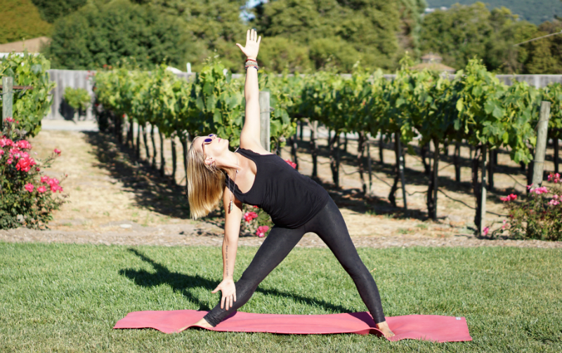 Yoga in the Vines Series - Extended Triangle Pose