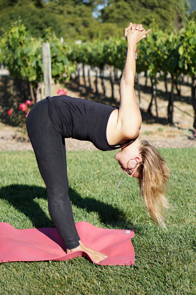 Yoga in the Vines Series - Standing Forward Fold Pose