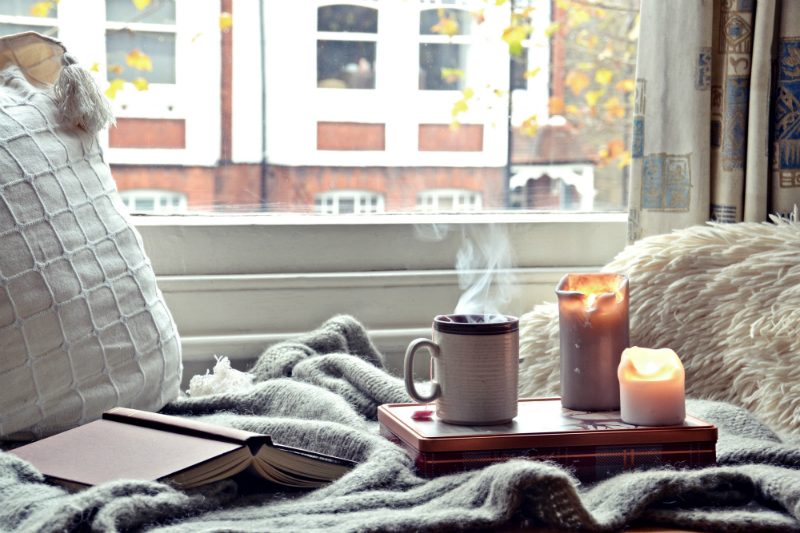Inspired by Hygge Style - How To Create a Cozy Home for Fall - Reading Nook