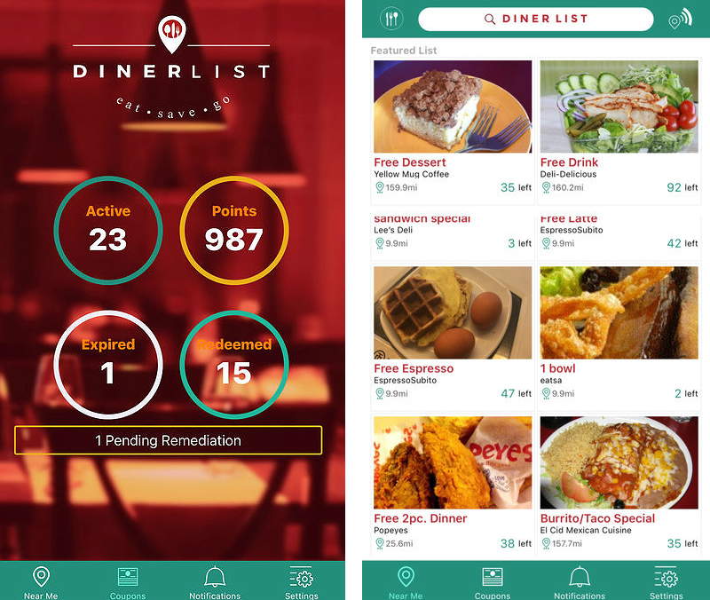 Dinerlist App Helps You Find The Best Restaurant Deals Nearby