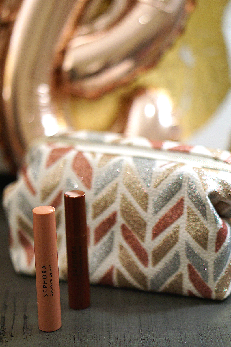 Love Who You Are Giveaway - Sephora Lip Crayons and Cosmetic Bag