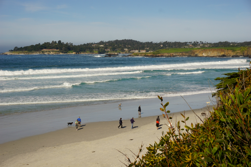 3 Inspiring Places to View The Pacific Ocean on The Monterey Peninsula - Carmel Beach