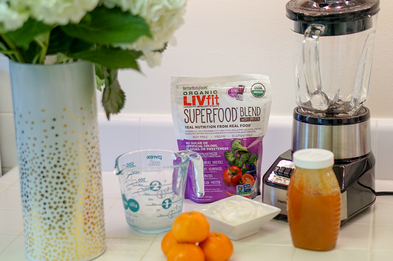 Superfood Smoothie Recipe - Better Body Foods Organic LIVfit Superfood Blend with Protein