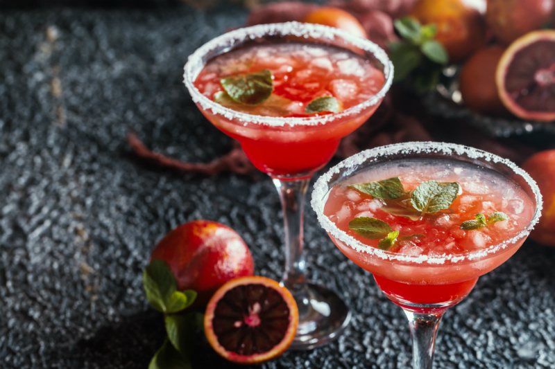 3 Festive Cocktail Recipes to Make Your Cinco de Mayo Party a Fun Fiesta - Blood Orange Margarita