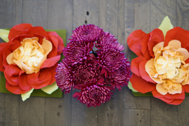DIY Paper Flower Centerpieces for a Summer Solstice Party