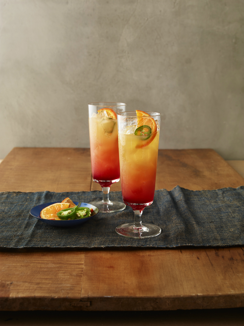 Tequila Recipe - Spicy Tequila Sunrise from In The Raw