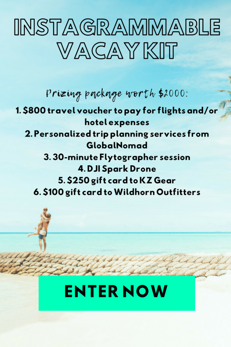 Instagrammable Vacay Giveaway