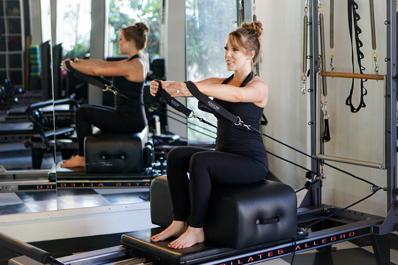 Pilates Reformer Guide - Upper Body Exercises - Hug a Tree