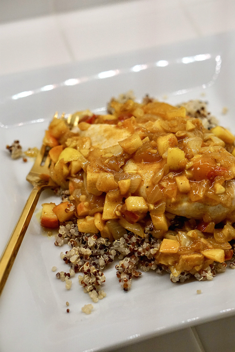 Apple Curry Chicken with Quinoa