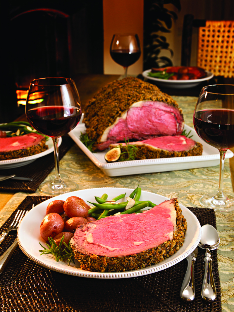 Gourmet Holiday Recipes from a Celebrity Chefs - Prime Rib and a Whole Grain Mustard and Horseradish Sauce