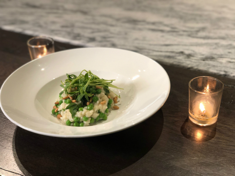 Easter Brunch Recipes - Spring Pea Risotto by Brian Dandro